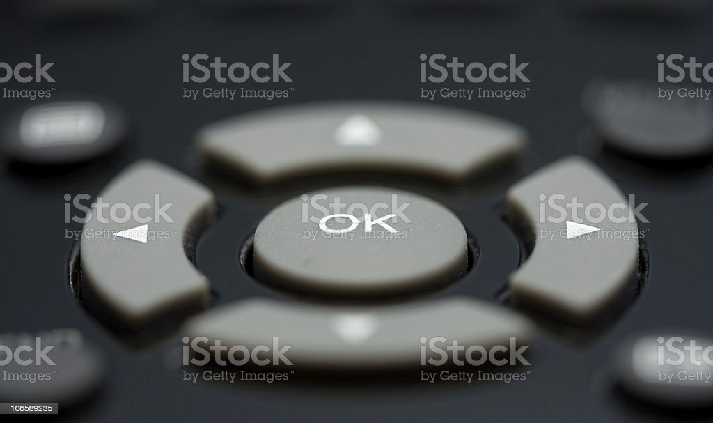 Macro of remote control buttons royalty-free stock photo
