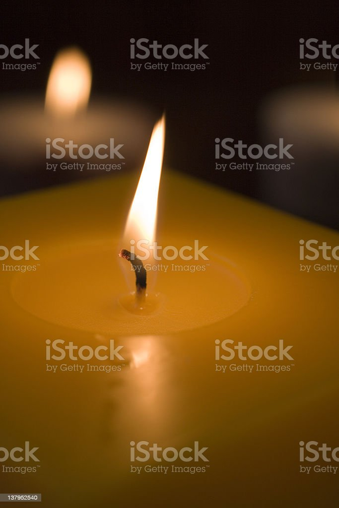 Macro of several  candles royalty-free stock photo