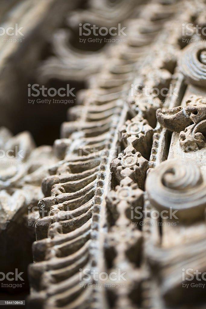 Macro of Stone Detail Trim stock photo