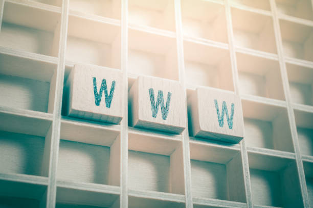 Macro Of The Word WWW Formed By Wooden Blocks In A Typecase Macro Of The Word WWW Formed By Wooden Blocks In A Typecase vpn stock pictures, royalty-free photos & images