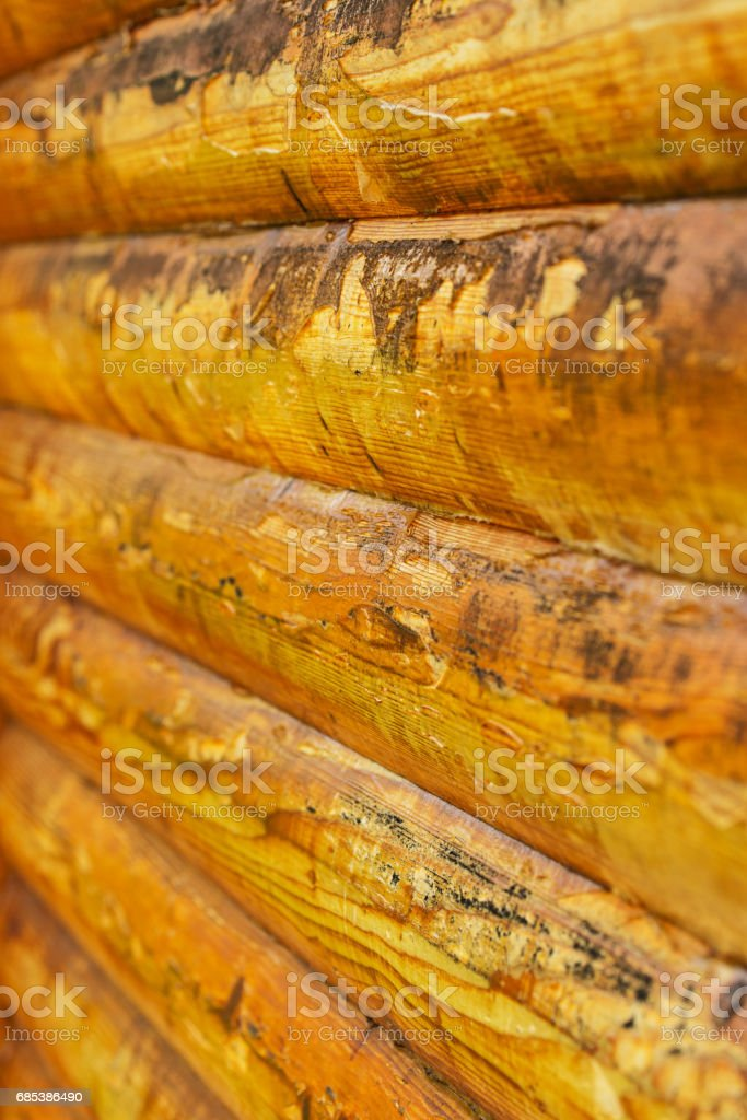Macro of used plank house in a line foto de stock royalty-free