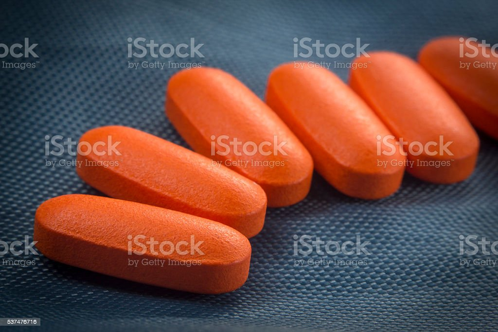Macro Pain Killer Pills stock photo