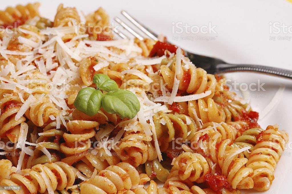 Macro pasta royalty-free stock photo