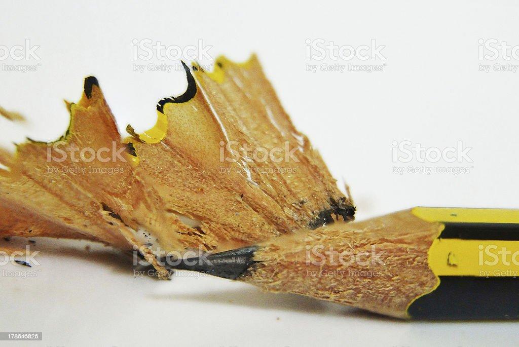 Macro pencil tip royalty-free stock photo