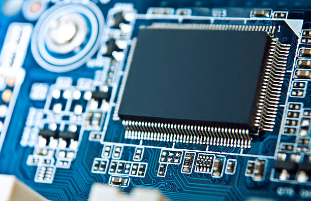 Makro Foto von computer-motherboard – Foto