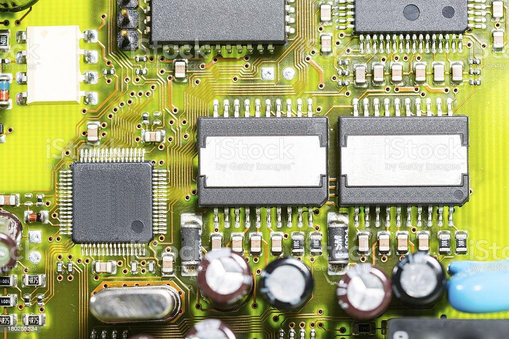 Macro photo of electronic circuit royalty-free stock photo