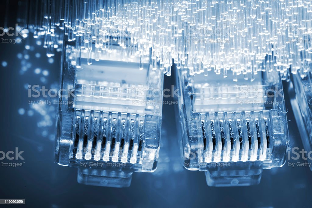 Macro photo of Ethernet cables royalty-free stock photo