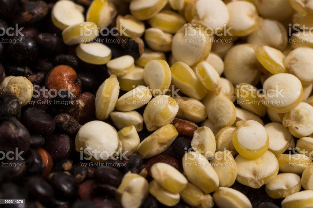 Macro photography of quinoa grains royalty-free stock photo
