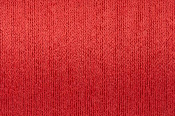 Macro picture of red thread texture background Macro picture of red thread texture surface background red cloth stock pictures, royalty-free photos & images