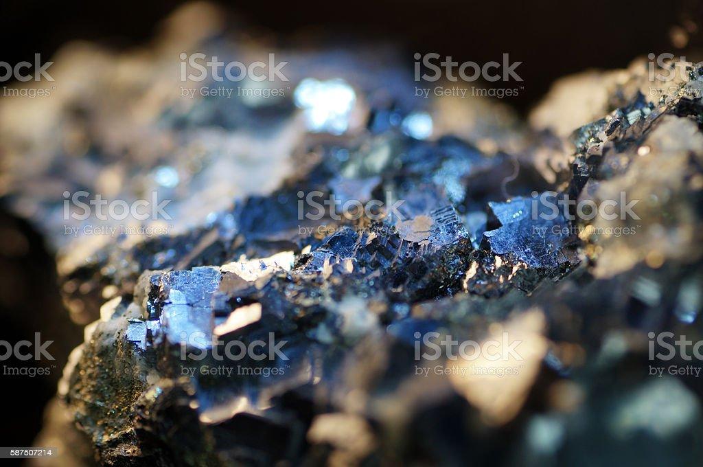 Macro Pyrite mineral royalty-free stock photo