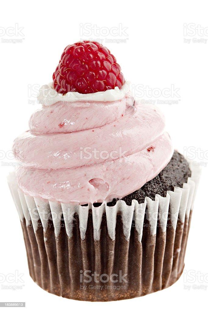 Macro Raspberry Cupcake royalty-free stock photo