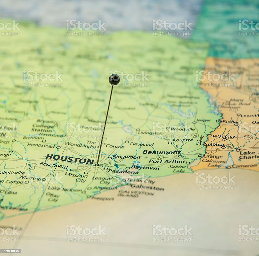 Makro Straßenkarte Von Houston Und Galveston Beaumont Texas ...