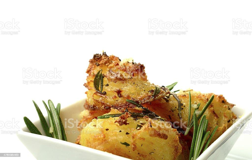 Macro Roast Potatoes 2 royalty-free stock photo