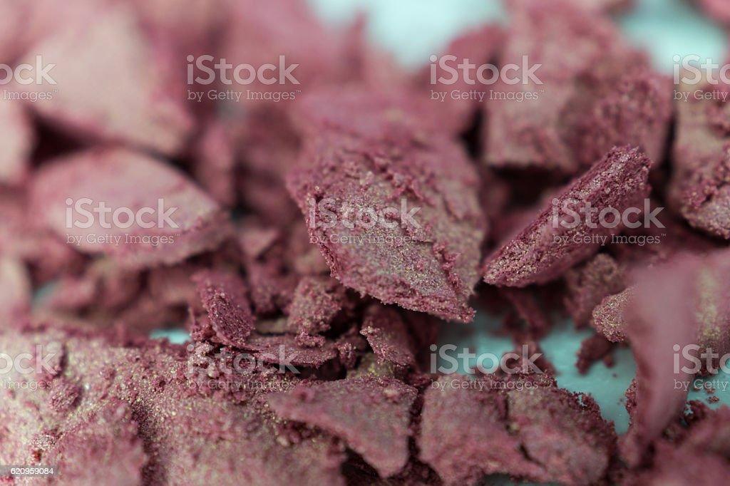 macro: rose, pink, gold cosmetic powder, eyeshadow, blush royalty-free stock photo
