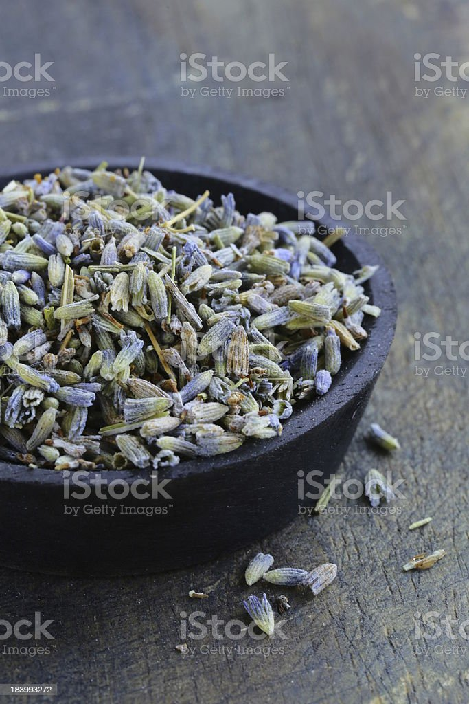 macro shot fragrant violet lavender dried condiment royalty-free stock photo