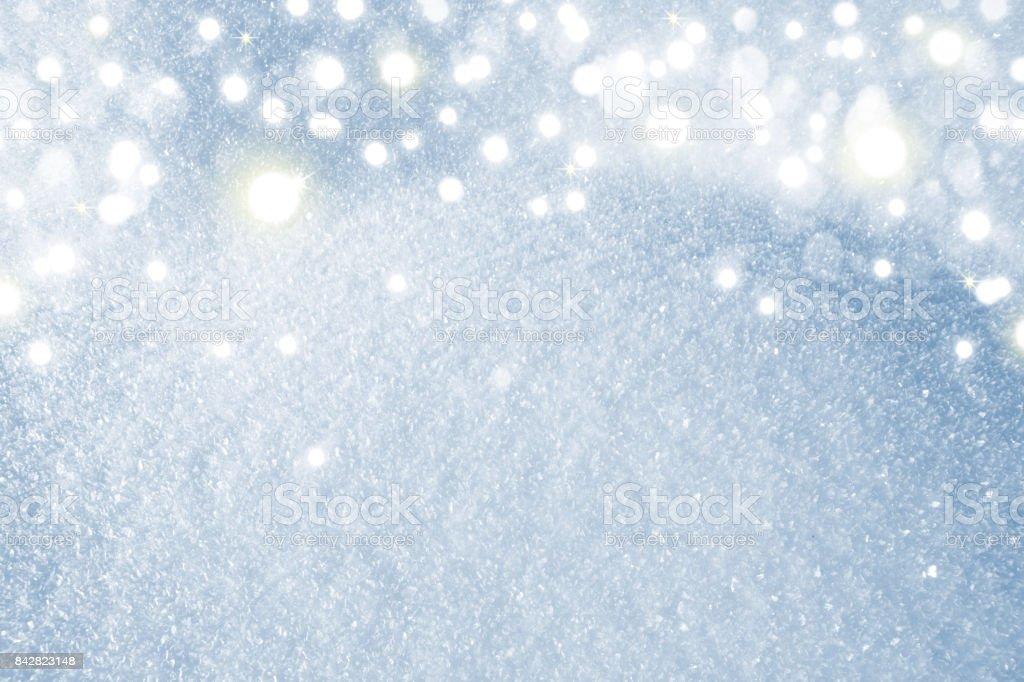 Macro shot from Snow stock photo