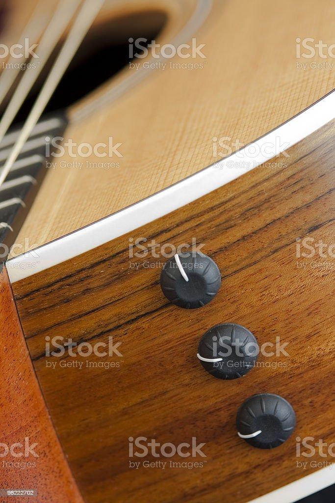 Macro shot of an acoustic guitar body royalty-free stock photo
