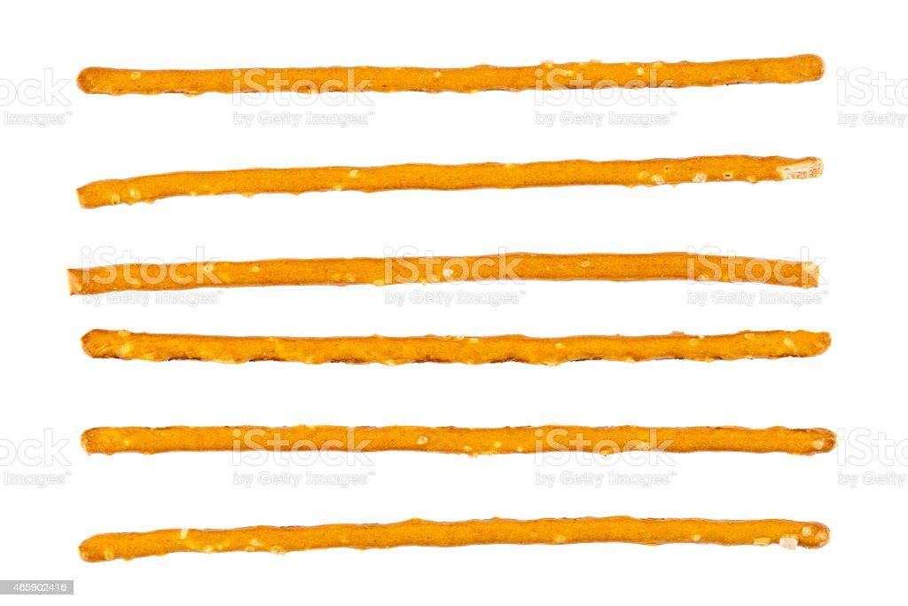 Macro shot of Bulgarian salty sticks stock photo