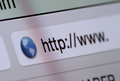 istock Macro shot of computer screen with http:// address bar and web browser 847321716