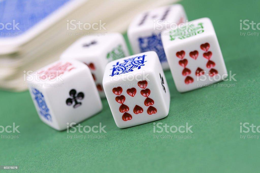 Macro shot of dices royalty-free stock photo