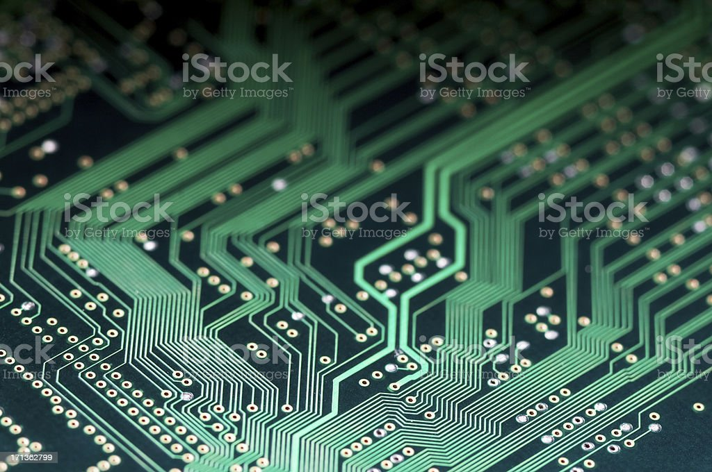 Macro shot of Electronic Circuit Board representing modern technology royalty-free stock photo