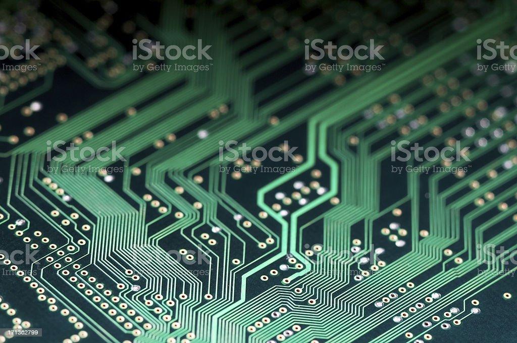 Macro shot of Electronic Circuit Board representing modern technology stock photo