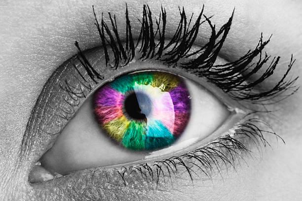Macro shot of human eye stock photo