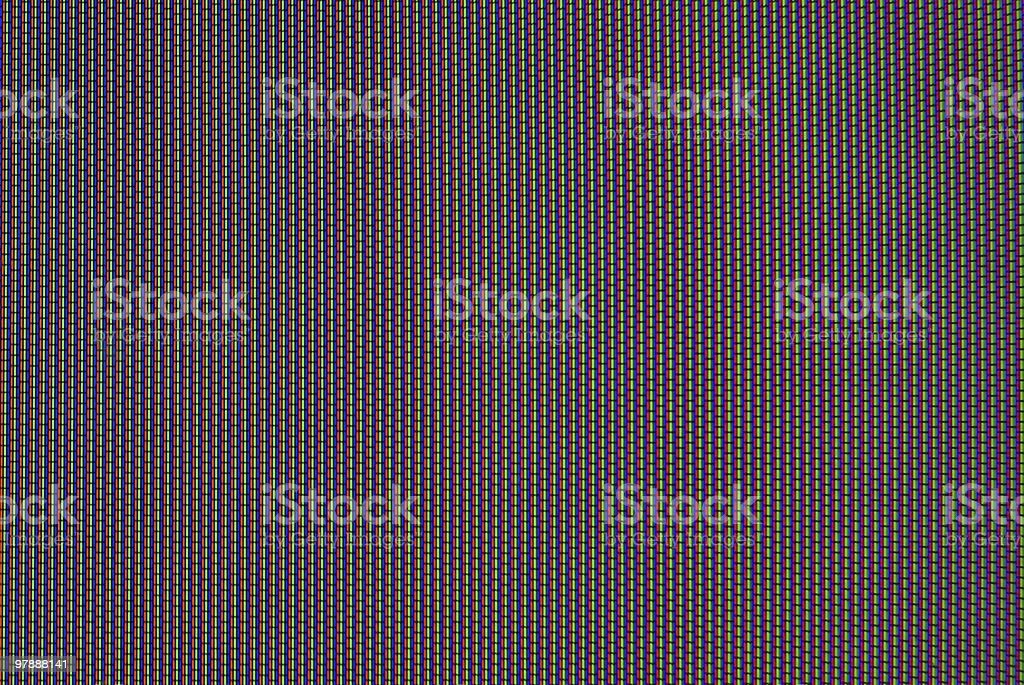 MGR macro shot of monitor with moire effect stock photo