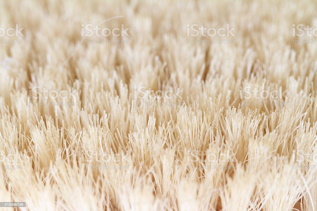 Macro shot of scrub brush bristles stock photo