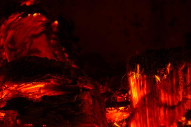 Makroaufnahme der Holzverbrennung – Foto