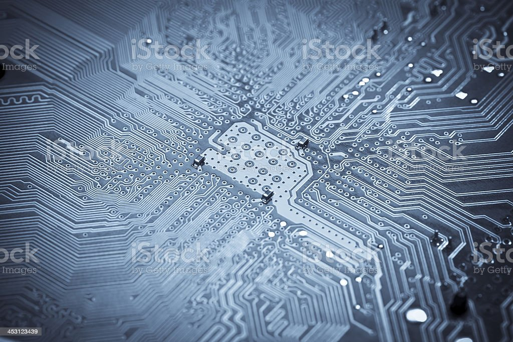 Macro shot the motherboard. royalty-free stock photo