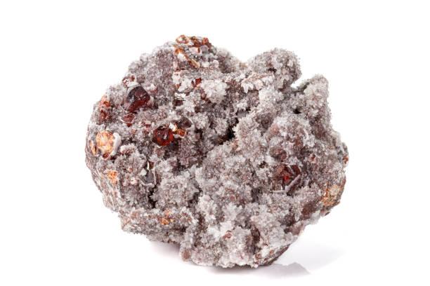 Cтоковое фото Macro stone mineral quartz Sphalerite on a white background