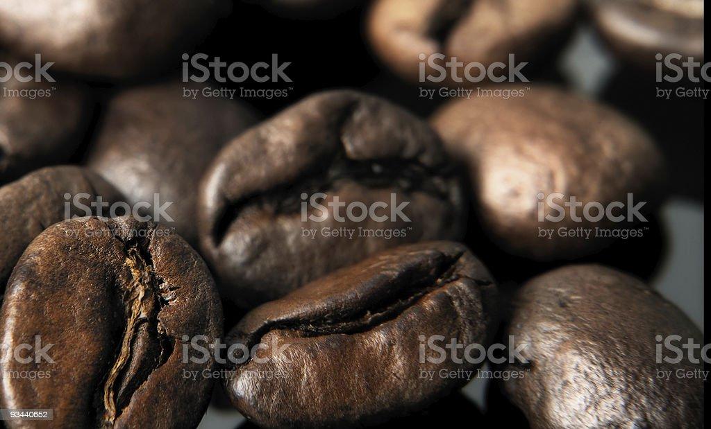 Makro-Studioaufnahme von Braun Kaffee Bohnen Lizenzfreies stock-foto