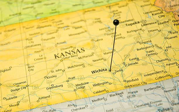 Kansas Map Pictures Images And Stock Photos IStock - Map kansas