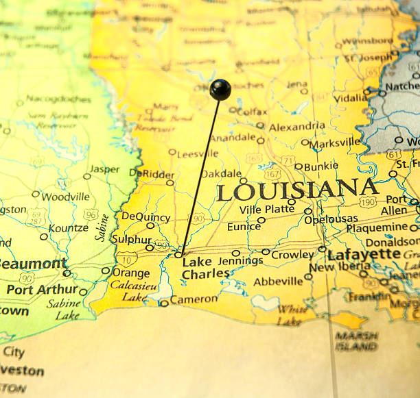 Louisiana Map Pictures Images And Stock Photos IStock - Road map of louisiana