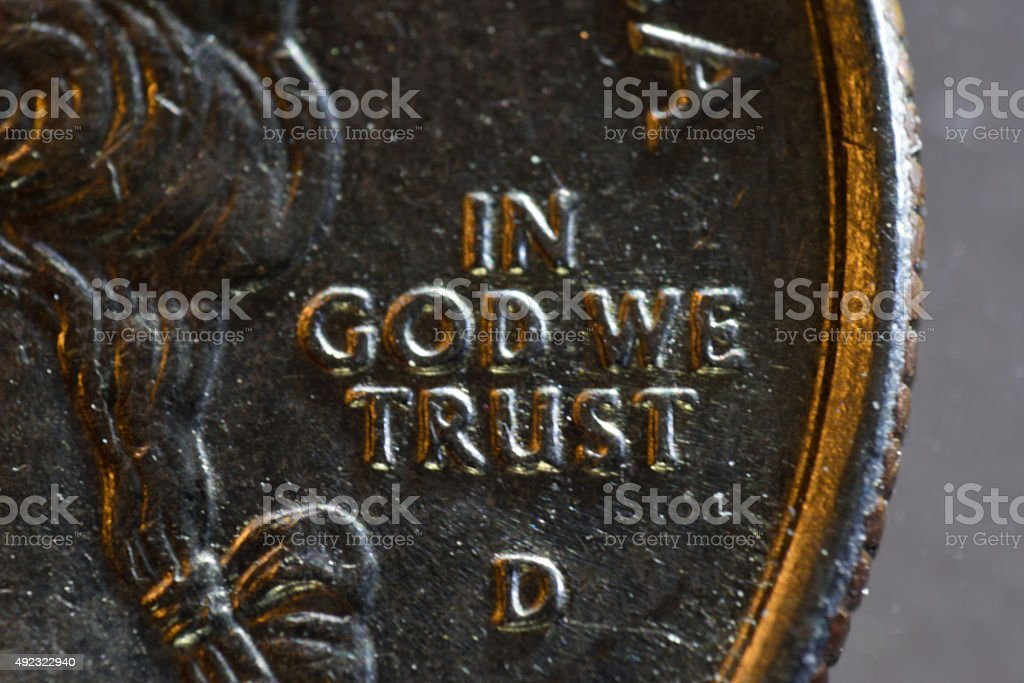 Macro View of American Coin stock photo
