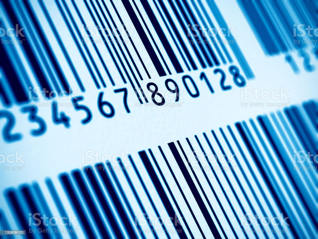 Macro view of barcode royalty-free stock photo