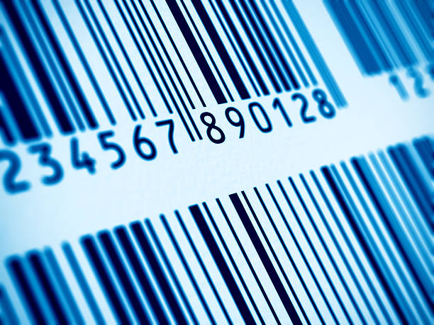 Macro view of barcode stock photo