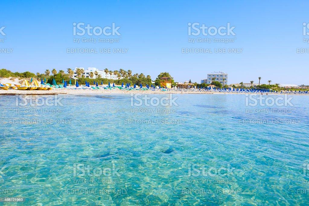 Macronissos beach  Cyprus stock photo