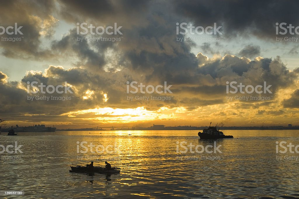 Mactan Channel royalty-free stock photo