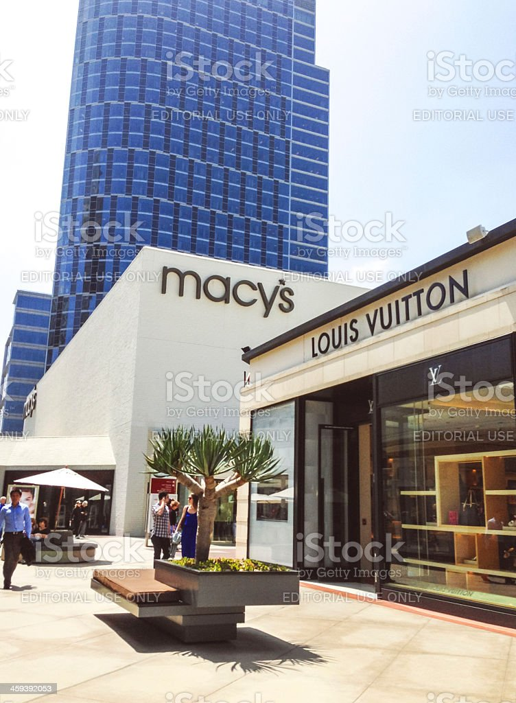 Macy's and Louis Vuitton at Westfield Century City, LA, CA stock photo