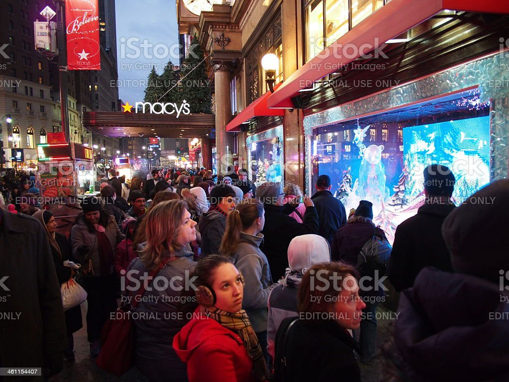 Macy's Christmas Windows, New York stock photo