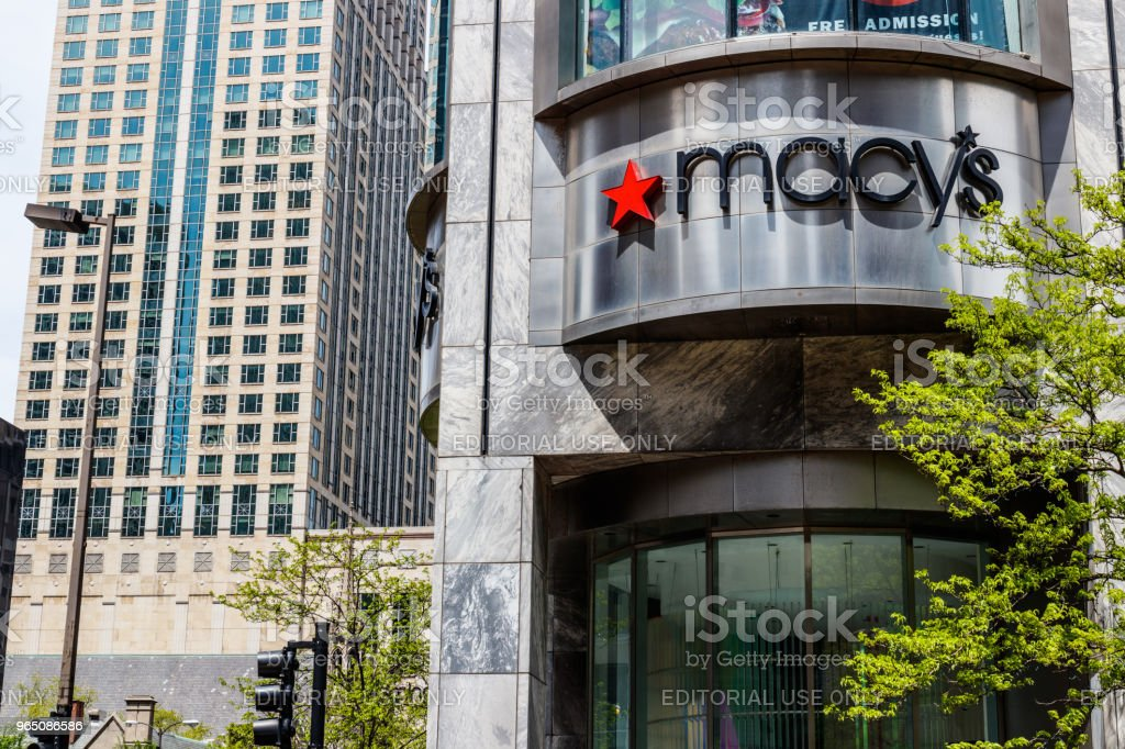 Macys Department Store. Macy's, Inc. is one of the Nation's Premier Omnichannel Retailers III royalty-free stock photo