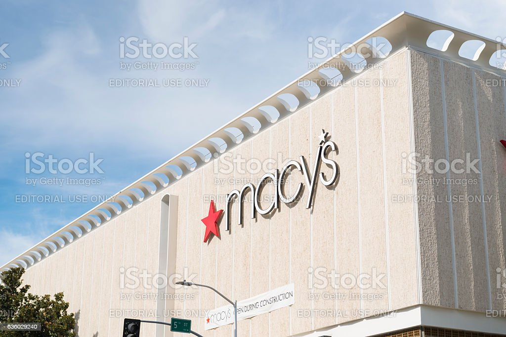 Macy's department store stock photo