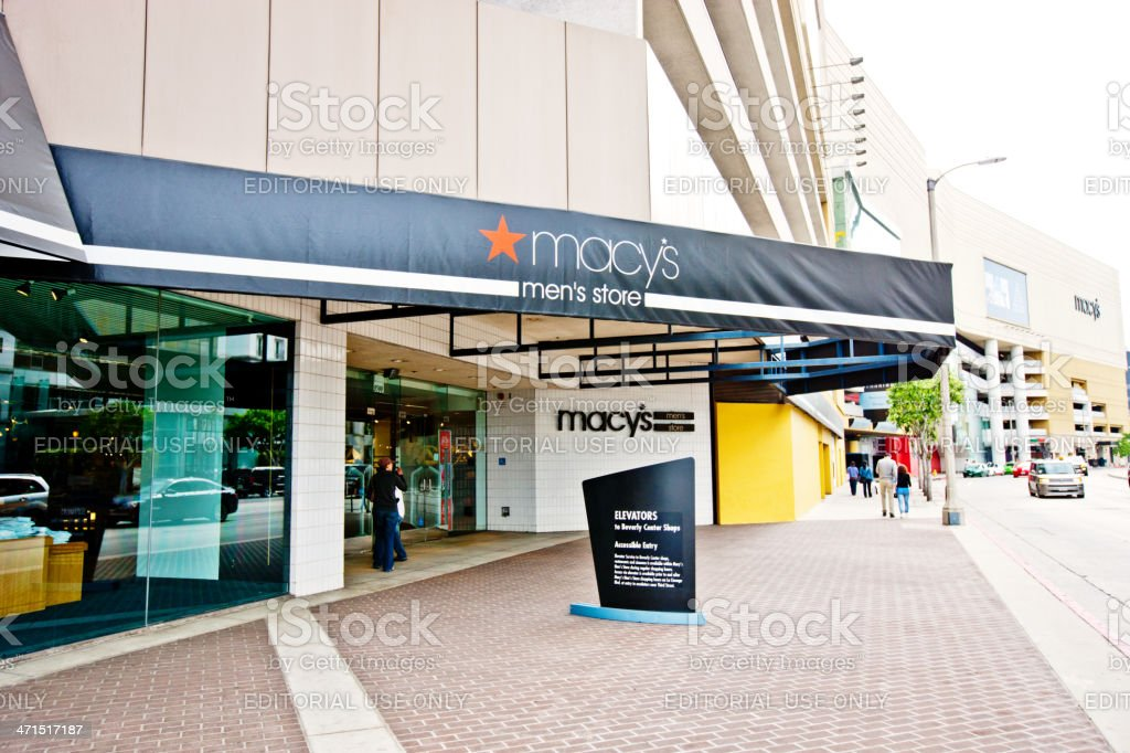 Macy's Department Store, West Hollywood, USA royalty-free stock photo