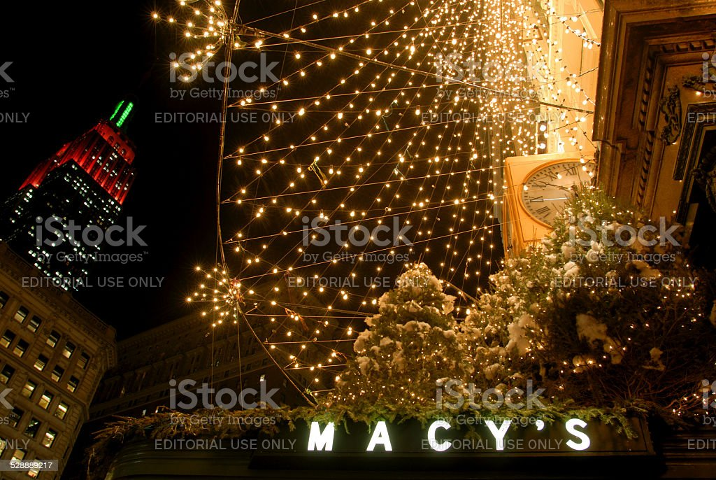 Macy's department store with CHristmas decoration, New York stock photo