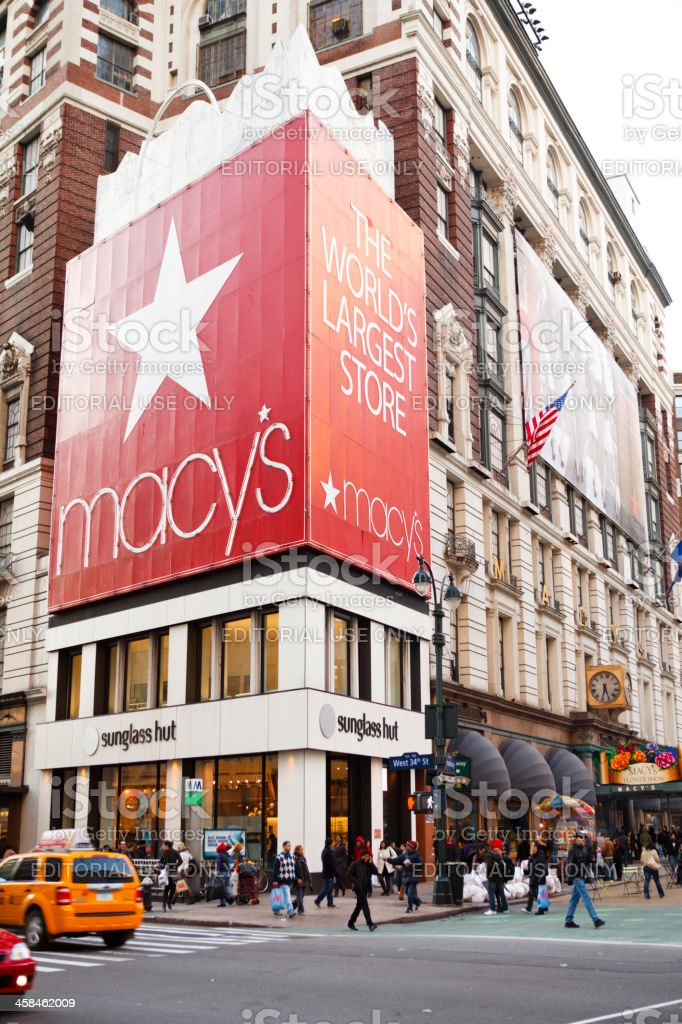 Macy's Herald Square 34th and Broadway New York stock photo