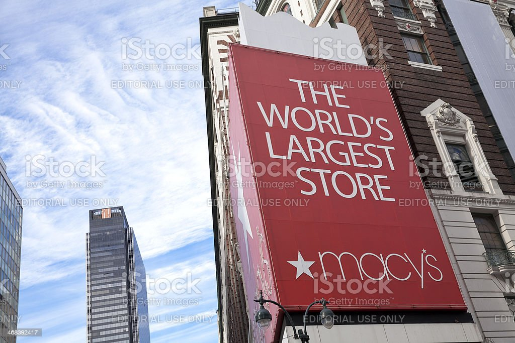 Macy's Herald Square Store in New York City stock photo