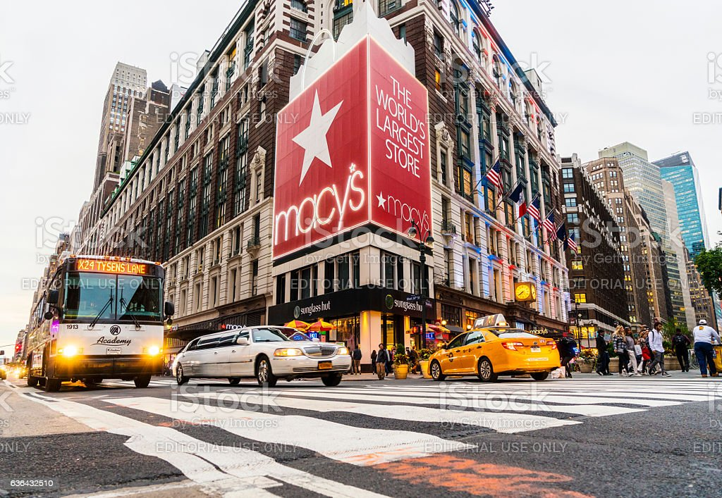 Macy's Herald Square Store stock photo