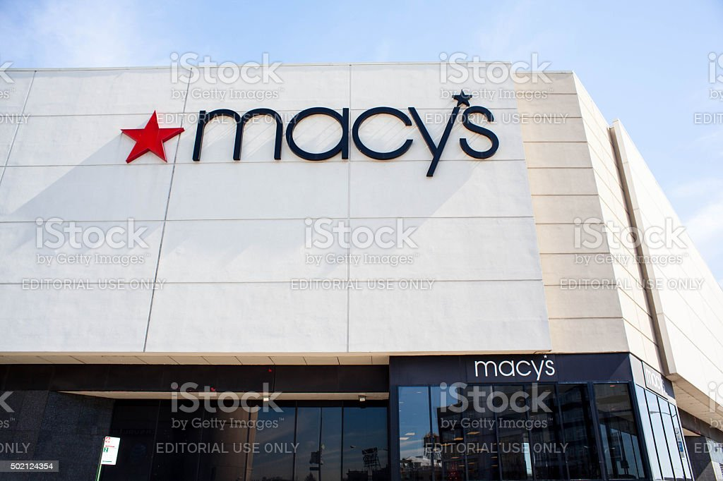 Macy's in Queens Center Mall. Elmhurst Queens. stock photo